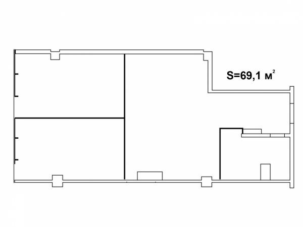 Планировки однокомнатных квартир 69.1 м^2